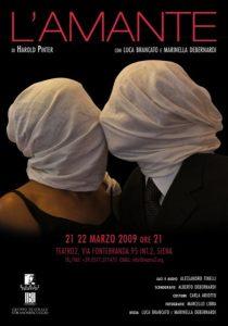 """Locandina spettacolo """"L'amante"""""""